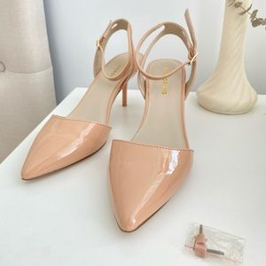 Nude Pointed Court Shoe/Heels👠